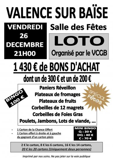 Affiche a4 noel vcgb 2014