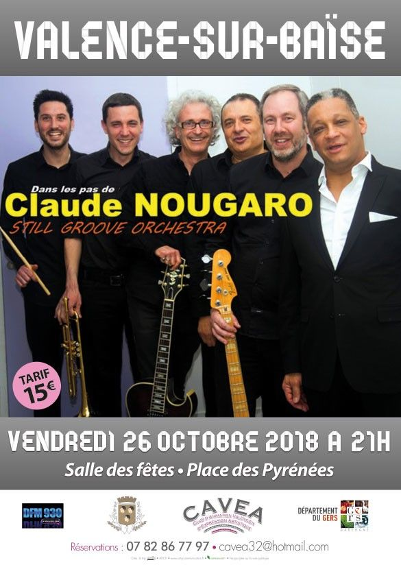 Affiche spectacle alex lekouid nougaro 26 10 2018