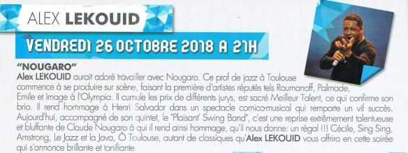 Alex lekouid 26 oct