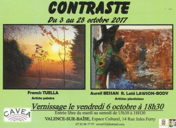 Invitation vernissage du 06 octobre expo contraste