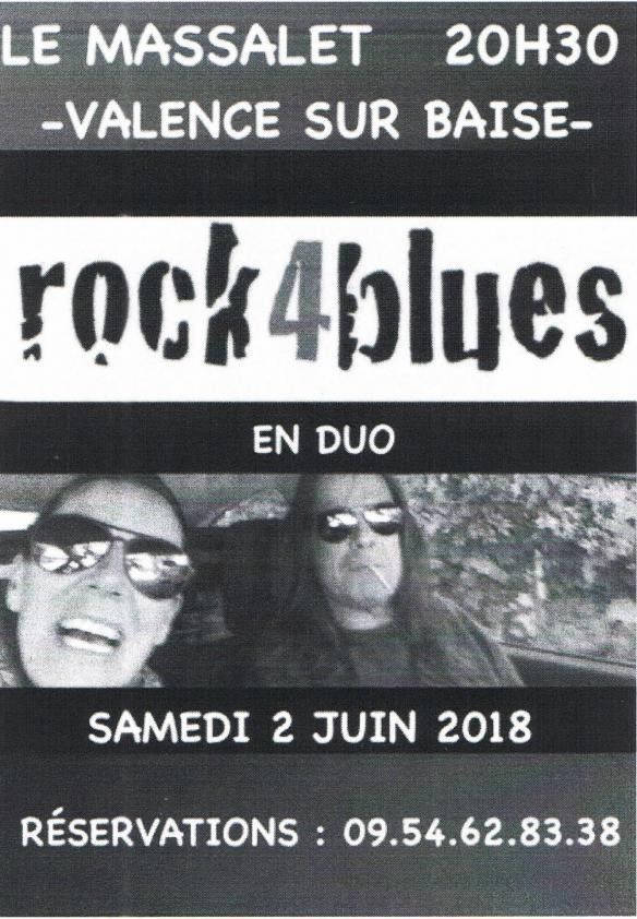 Rock for blues massalet 2 juin