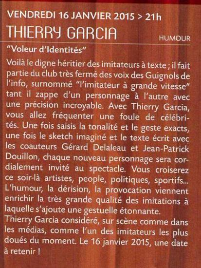 Thierry garcia text
